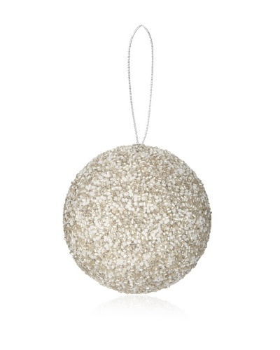 Sage & Co. Glittered Beaded Ball Ornament