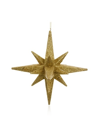 Sage & Co. Gold Mica Star Ornament