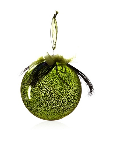 Sage & Co. Peacock Glass Ornament Ast Of2