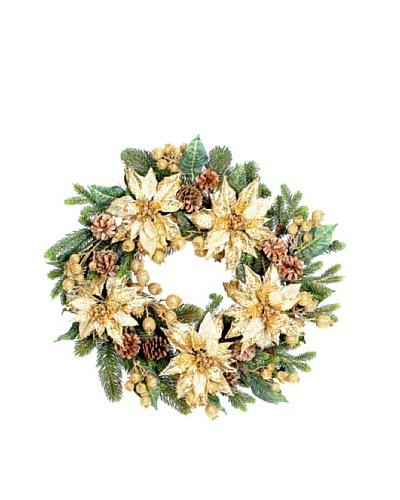 Sage & Co. Golden Poinsettia Wreath