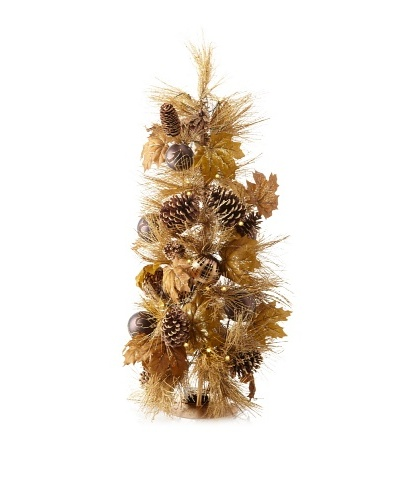 Sage & Co. Pinecone/Pine/Ornament Tree with Lights