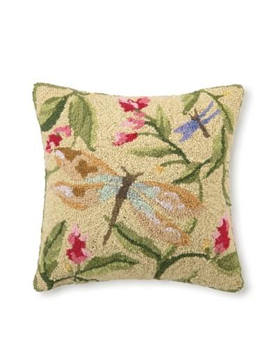 Sally Eckman Roberts Dragonfly Dance 16 x 16 Hook Pillow
