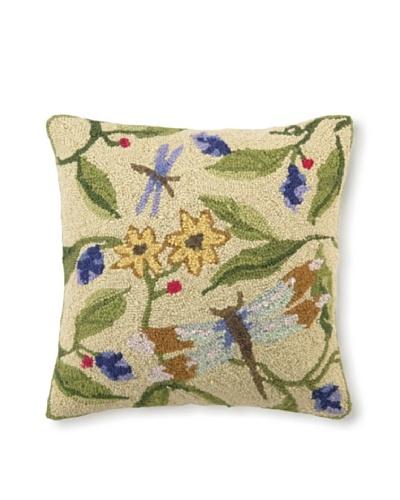 Sally Eckman Roberts Dragonfly Dance 18 x 18 Hook Pillow