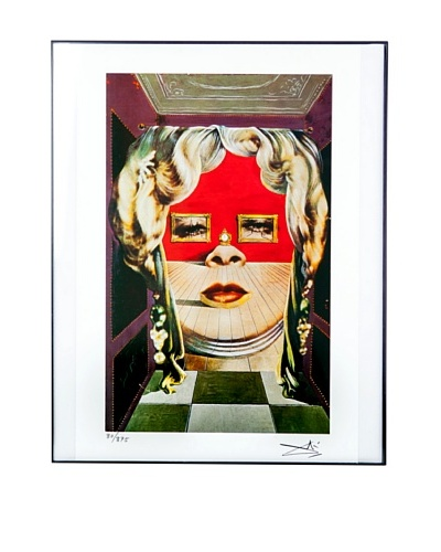 Salvador Dalí Mae West's Face Framed Limited Edition