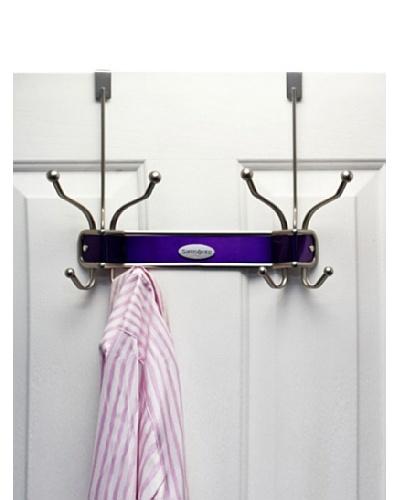Samsonite Satin Nickel & Lavender 8 Hook Door Hanger