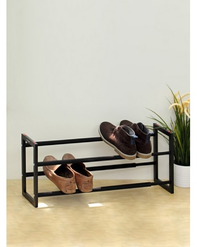 Samsonite Expandable 2 -Tier Steel Shoe Rack