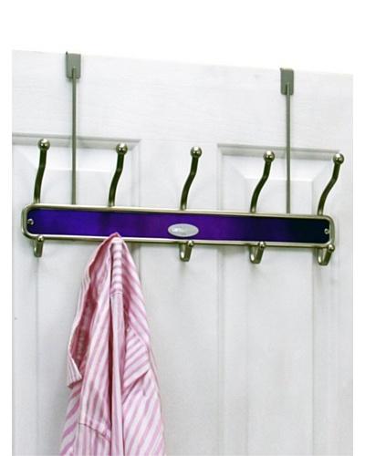 Samsonite Satin Nickel & Lavender 10 Hook Door HangerAs You See