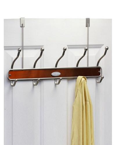 Samsonite Satin Nickel & Salmon 10 Hook Door Hanger
