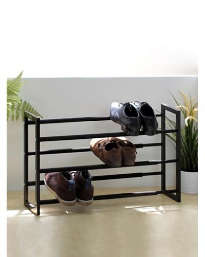 Samsonite Expandable 3-Tier Steel Shoe Rack, Black