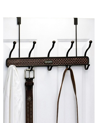 Samsonite 10 Hook Bronze Over The Door Hanger