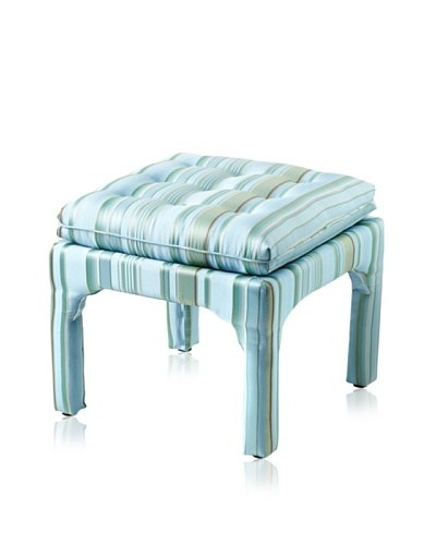 Sandy Wilson Fresca Square Ottoman, Light Blue