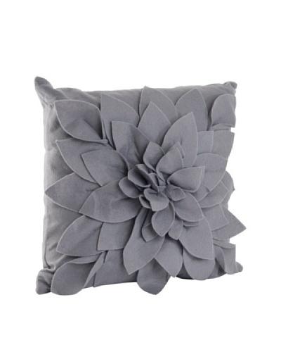 Saro Lifestyle Slate Flower Pillow
