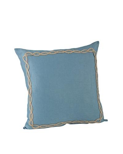 Saro Lifestyle French Blue Portofino Square Pillow
