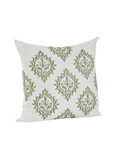 Saro Lifestyle Lime Embroidered Design Pillow