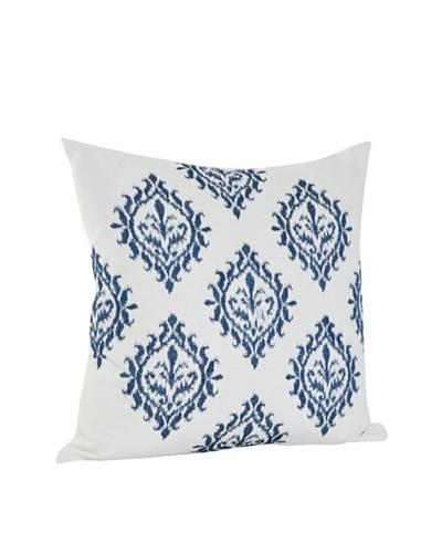 Saro Lifestyle Indigo Embroidered Design Pillow