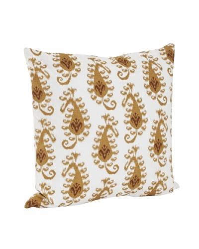 Saro Lifestyle Mustard Ikat Design Pillow