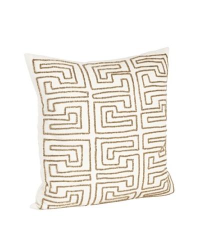 Saro Lifestyle Bronze Maze Design Beaded Pillows