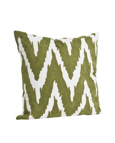 Saro Lifestyle Grass Brasileiro Chevron Square Pillow