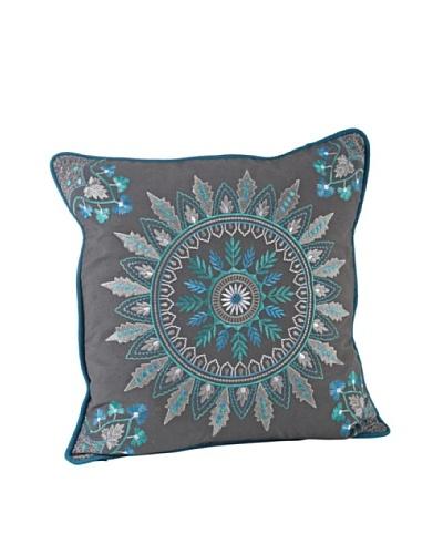 Saro Lifestyle Grey Nirmala Pillow