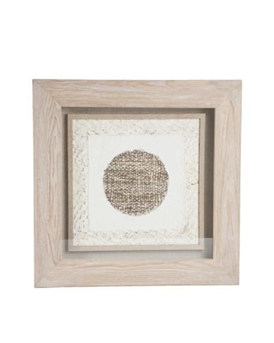 Saro Lifestyle Natural Framed Light Circle Paper Art