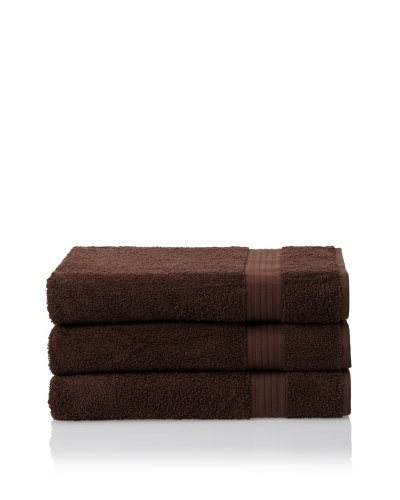 Savannah by Chortex 3 Piece Bath Sheet Set, Chocolate
