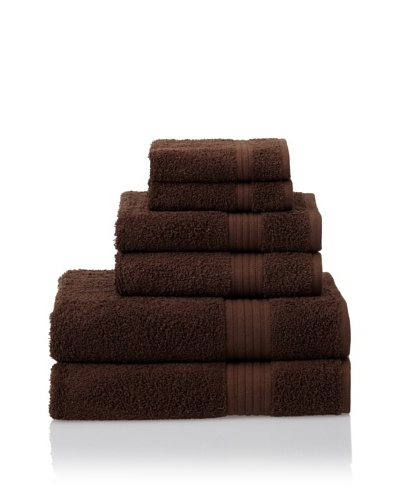 Savannah by Chortex 6 Piece Towel Set, Chocolate