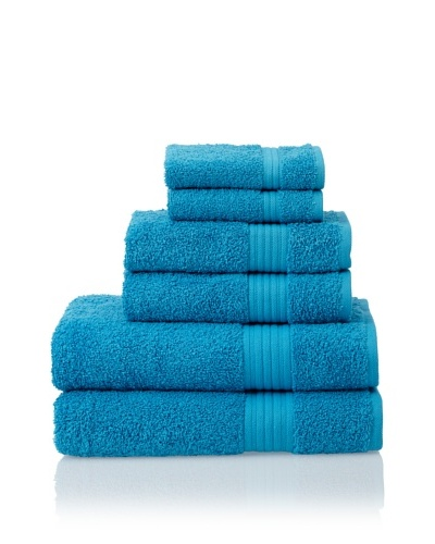 Savannah by Chortex 6 Piece Towel Set, Kingfisher Blue