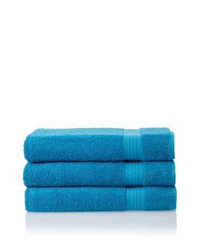 Savannah by Chortex 3 Piece Bath Sheet Set, Kingfisher Blue