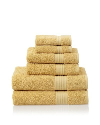Savannah by Chortex 6 Piece Towel Set, Mustard