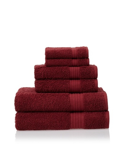Savannah by Chortex 6 Piece Towel Set, Claret