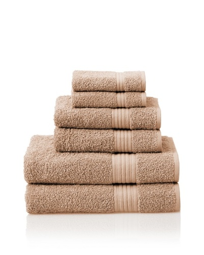 Savannah by Chortex 6 Piece Towel Set, Cappuccino