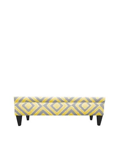 Sole Designs Brooke 10 Button Tufted Storage Bench, Nouveau Dijon