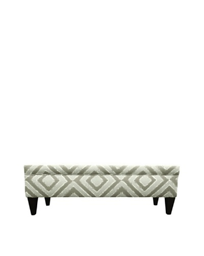 Sole Designs Brooke 10 Button Tufted Storage Bench, Nouveau Platinum