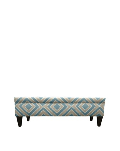 Sole Designs Brooke 10 Button Tufted Storage Bench, Nouveau Capri