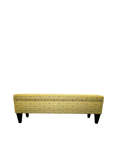 Sole Designs Brooke 10 Button Tufted Storage Bench, Bonjour Dijon
