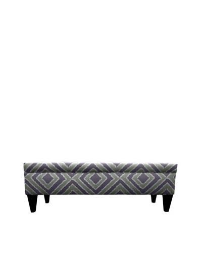 Sole Designs Brooke 10 Button Tufted Storage Bench, Nouveau Amethyst