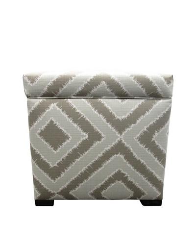 Sole Designs Tami Storage Ottoman, Nouveau Platinum