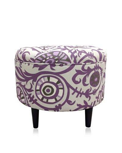 Sole Designs Passion Round Ottoman, Purple