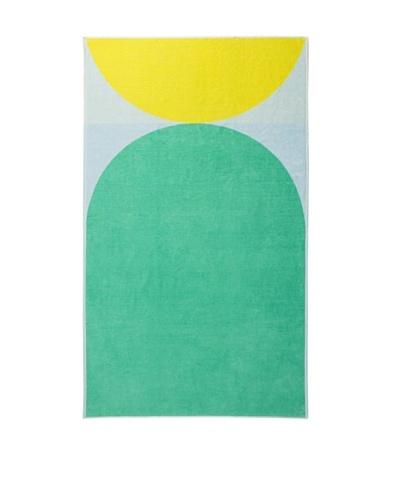 Schlossberg PIER 8 Beach Towel, Green/Yellow