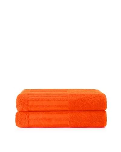 Schlossberg Sensitive 2 Piece Bath Sheet Set, Mandarine