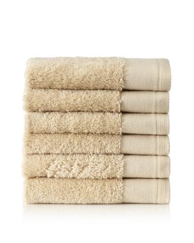Schlossberg Set of 6 Interio Washcloths, Ivory