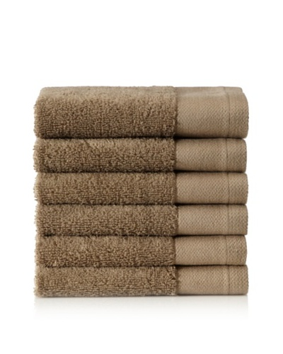 Schlossberg Set of 6 Interio Washcloths, Sand