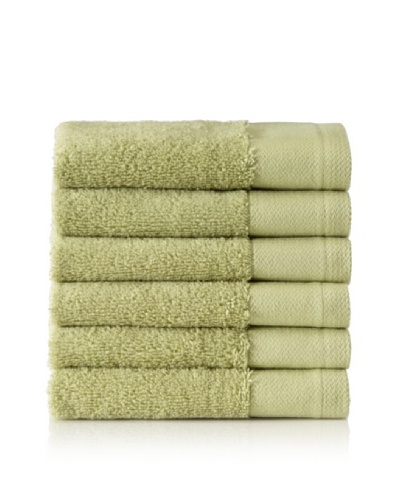 Schlossberg Set of 6 Interio Washcloths, Kiwi