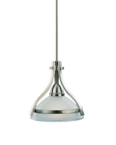 Sea Gull Lighting Eternity 1-Light Mini-Pendant, Brushed Nickel