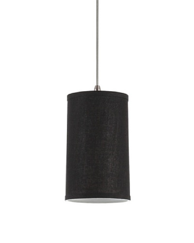 Sea Gull Lighting Transitions Linen Shade Mini-Pendant, Antique Bronze/Dark Gray