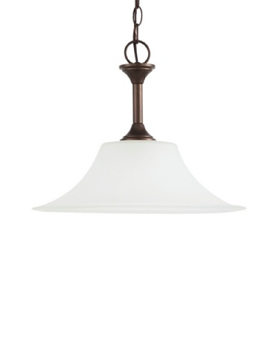 Sea Gull Lighting Holman 1-Light Downlight Pendant, Bell Metal Bronze