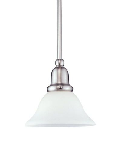 Sea Gull Lighting Sussex 1-Light Mini Pendant, Brushed Nickel
