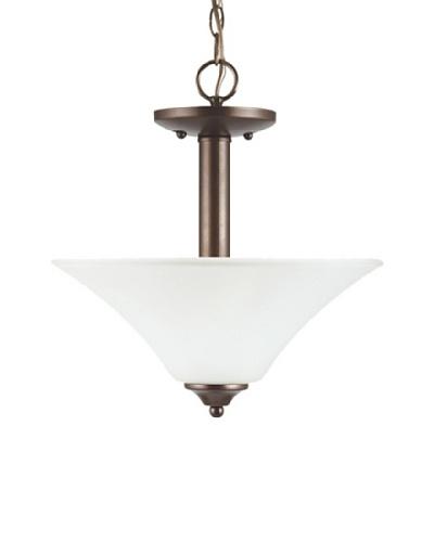 Sea Gull Lighting Holman 2-Light Semi-Flush, Bell Metal Bronze