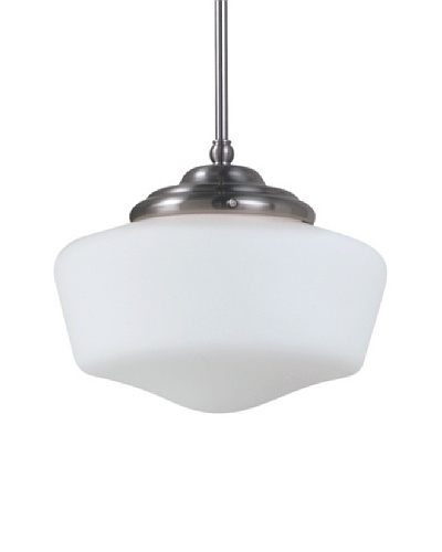 Sea Gull Lighting Sussex Academy Large 1-Light Pendant, Brushed Nickel