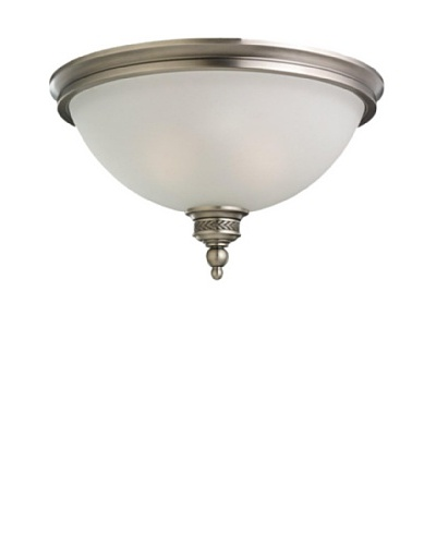 Sea Gull Lighting 2-Light Ceiling Flush Mount Fixture [Antique Brushed Nickel]